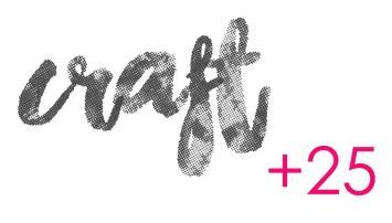 Craft+25 logo