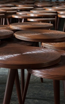 Rattan table by APY Cane Inc.