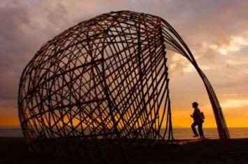 Design at Lombok International Bamboo Architectural Festival in Indonesia(source: www.elenagoray.wordpress.com)