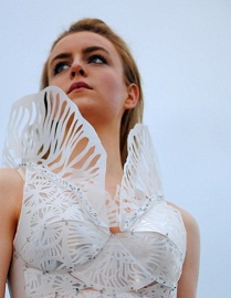 Dress from plastic milk cartons (source: www.upcylcethat.com)