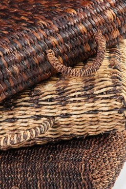 Bags made of water hyacinth (top), Lampakanay (middle), Abaca (bottom). (Source: ECCP archive)