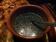 Egyptian molokhiya (Saluyot) Soup. (source:https://en.wikipedia.org/wiki/Mulukhiyah)