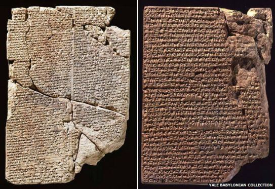 Mesopotamian cooking tablets (Source: http://www.bbc.com/news/magazine-30549150)